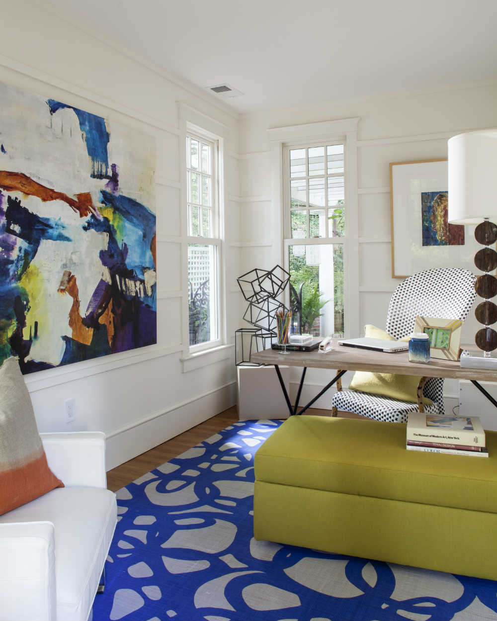 Modern. Youthful. Artsy. This room begs you to create something amazing. </br>(Arlington, Virginia)
